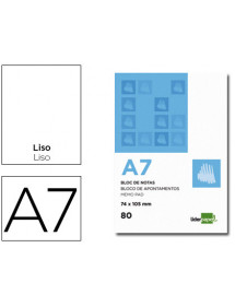 Bloc notas liderpapel liso a7