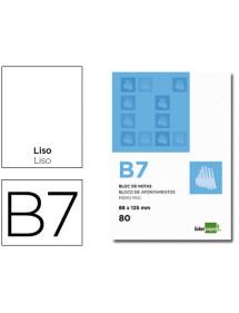 Bloc notas liderpapel liso b7