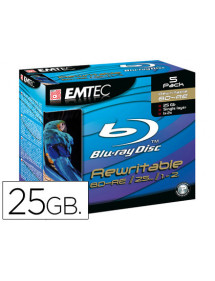 Dvd bd-re emtec capacidad 25gb